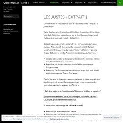 Oral de Français – 1ère S4