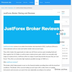 JustForex Broker Rating and Reviews - 23 September 2019 - Blog - Personal site