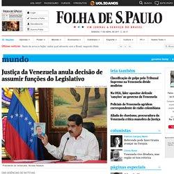 Justiça da Venezuela anula decisão de assumir funções do Legislativo - 01/04/2017 - Mundo