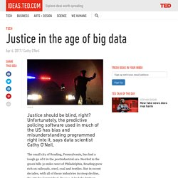 Justice in the age of Big Data