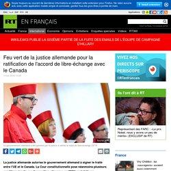 Feu vert de la justice allemande pour la ratification de l'accord de libre-échange avec le Canada
