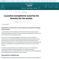 La justice européenne autorise les brevets sur les ovules