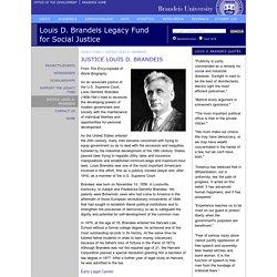Justice Louis D. Brandeis