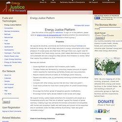 Energy Justice Platform