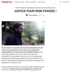 JUSTICE POUR REMI FRAISSE