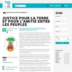 Justice pour la Terre et pour l'Amitié entre les Peuples