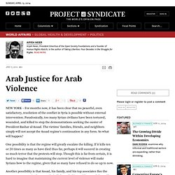 Arab Justice for Arab Violence - Aryeh Neier