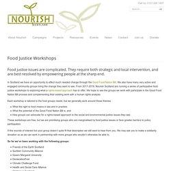 Food Justice Workshops - Nourish Scotland