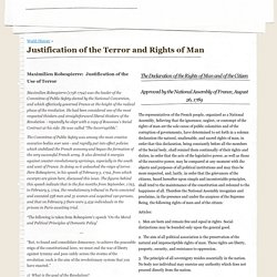 Justification of the Terror and Rights of Man - mrhartlosal