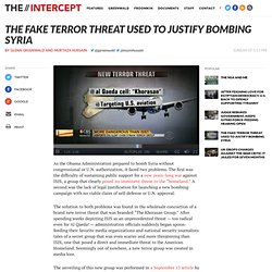 The Fake Terror Threat Used To Justify Bombing Syria