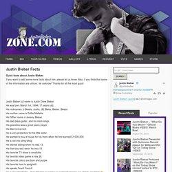Justin Bieber Facts | Justin Bieber Zone