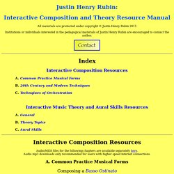 Justin Rubin Theory and Composition Resources