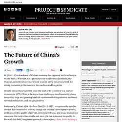 """The Future of China's Growth"" by Justin Yifu Lin"