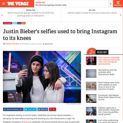 Justin Bieber's selfies used to bring Instagram to its knees