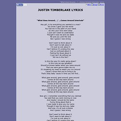 JUSTIN TIMBERLAKE LYRICS - What Goes Around... / ...Comes Around Interlude