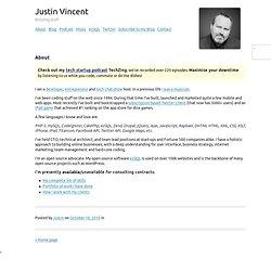 Justin Vincent — About