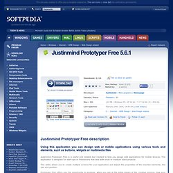 Download Justinmind Prototyper Free 1.1.0 Free - Prototype web and mobile applications with this application.