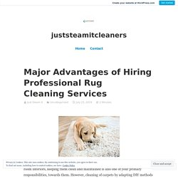 Major Advantages of Hiring Professional Rug Cleaning Services