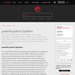 Juvenile Justice Systems