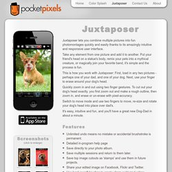 Juxtaposer - Fun and Intuitive Photo Compositing App for your iP