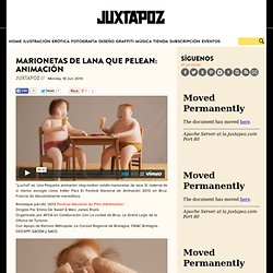 Marionetas de peleano Que lana: animación