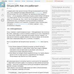 Опции JVM. Как это работает