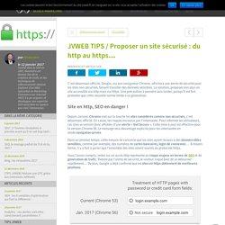 JVWEB TIPS / Proposer un site sécurisé : du http au https… - JVWEB