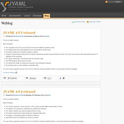 4.0.0 Beta1 for Joomla! 1.6 is now available - News - Blog - JYAML