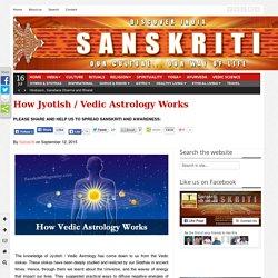 How Jyotish / Vedic Astrology Works