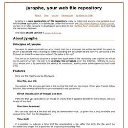 Jyraphe, votre dépôt de fichier en ligne