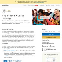 K-12 Blended & Online Learning