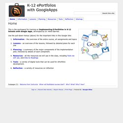 K-12 ePortfolios with GoogleApps