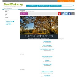 K-12 Poems with Question Sets