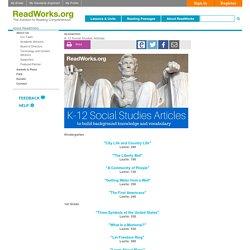 K-12 Social Studies Articles