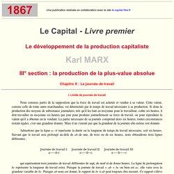 K. Marx - Le Capital Livre I : X.1