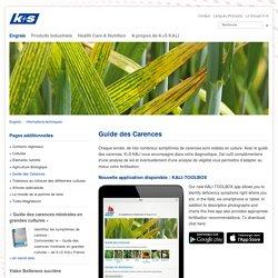K+S KALI GmbH - Guide des Carences