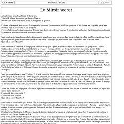 K030-4 : Le Miroir secret