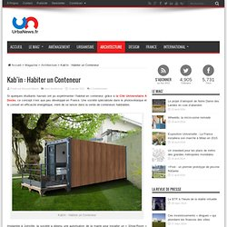 Kab'in: Living a Container