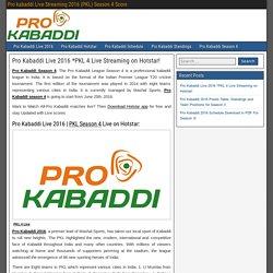 pro kabaddi season 4