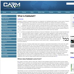 What is Kabbalah