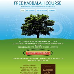 Free Kabbalah Course - Kabbalah Education Center, Bnei Baruch