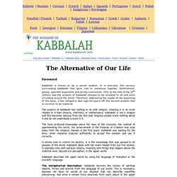 World Center - Science and Kabbalah - The Alternative of Our Life