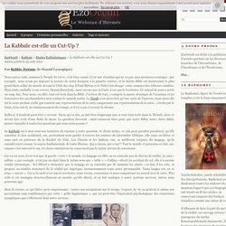 La Kabbale est-elle un Cut-Up ? « Etudes Kabbalistiques « Kabbale
