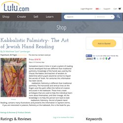 """Kabbalistic Palmistry- The Art of Jewish Hand Reading by Dr Matthew """"Levi"""" Lemberger (Paperback)"""