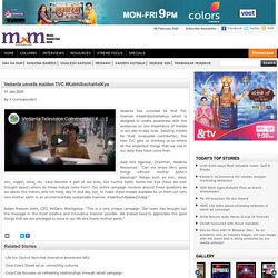 Vedanta Ad TVC - Watch the Vedanta Ad now