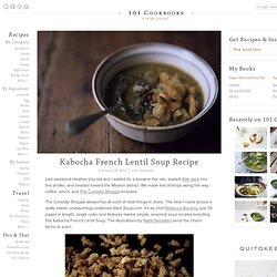 Kabocha French Lentil Soup Recipe