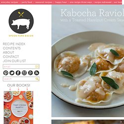 Kabocha Ravioli with a Toasted Hazelnut Cream Sauce recipe