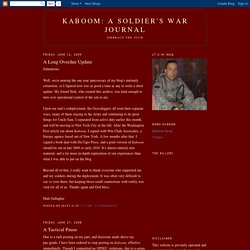 Kaboom: A Soldier's War Journal