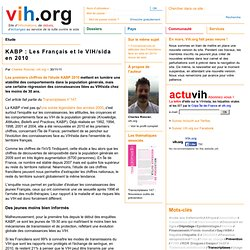 KABP : Les Français et le VIH/sida en 2010 | vih.org