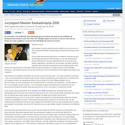 Juryrapport Meester Kackadorisprijs 2008